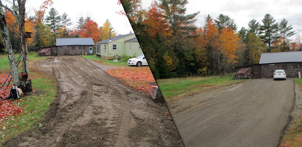 Maine Gravel Aggregate Driveway Parking Lot Services